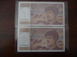 FRANCE * 20 Francs 1997  W 060  (2 Billets 372364/65)   NEUF   UNC - 1962-1997 ''Francs''
