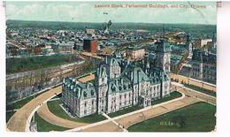 CANADA  ONTARIO  EASTERN  BLOCK PARLIAMENT  BUILDINGS AND CITY  OTTAWA  TBE   US259 - Ottawa
