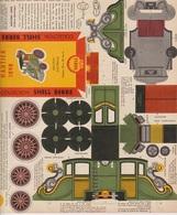 CARTON PREDECOUPE SHELL BERRE COLLECTION BOLIDES D'AUTREFOIS N° 30 - HAUTIER 1898 - Publicité
