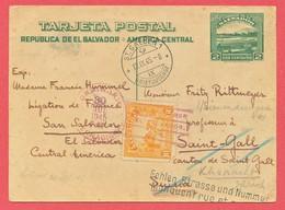 TIMBRE - SALVADOR - TARJETA POSTAL - LETTRE  - 1945 - El Salvador