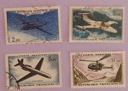 """FRANCE YT PA  38/41 OBLITERES """"PROTOTYPES"""" ANNEE 1960/1964 - Poste Aérienne"""