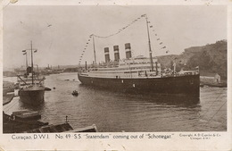 """Curaçao   S.S. """" Statendam """" Coming Out Of """" Schottegat""""  Used Stamped To Harfleur France - Curaçao"""
