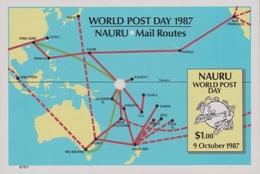 Nauru SG MS 354 1987 World Post Day, Miniature Sheet, Mint Never Hinged - Nauru