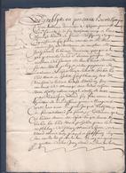 Manuscrit De 1661.Belle Calligraphie à Déchiffrer. Saint-Sauveur-en-Rue, Bourg-Argental.Chazeau. - Manuscrits