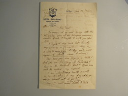 ISRAEL PALESTINE HOTEL PENSION REST HOUSE SAN REMO 1935 TEL AVIV TOURISM PAPER STATIONERY LETTER LOGO ORIGINAL - Manuscripts