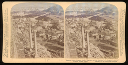 Stereoview - GREECE - Temple Of Jupiter Olympus, Arch Of Hadrian, And The Stadium - 1897 - Stereoscopi