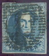 N°4- Médaillons 20 Centimes, TB Margé, Obl. P.4 ANVERS Bien Apposée. TB    -13785 - 1849-1850 Médaillons (3/5)