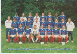 C.P. - FRANCE 98 - L'EQUIPE DE FRANCE - CHAMPIONNE DU MONDE - FOOTBALL - SÉRIE OFFICIELLE - - Football