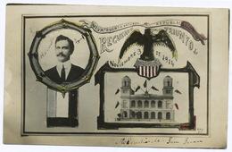 "Real Photo Puerto Rico Todd Mayor Trunfo Nov. 3, 1914 Viva "" Ouerto Arturo ""  San Juan City Hall - Puerto Rico"