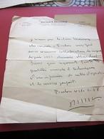 1946 ATTESTATION CERTIFICAT Sur ORDONNANCE SCE CHIRURGIE SALLE OPÉRATIONS CLINIQUE SAINT JEAN TOULON-Document Militaire - Documents