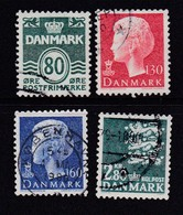 DENMARK, 1979, Used Stamp(s), Definitives,  MI 679=685, #10145, 4 Values Only - Denemarken