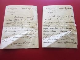 1935 ATTESTATION 2 CERTIFICAT Sur ORDONNANCE SERVICE SOINS MED. 4é RÉGION MARITIME FERRYVILLE TUNISIE-Document Militaire - Documents