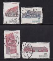 DENMARK, 1972, Used Stamp(s), Buildings, MI 536-539, #10110 Complete - Denemarken