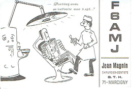 QSL CARTE RADIO AMATEUR - F6AMJ -  FRANCE MARCIGNY 1970 - Radio Amateur