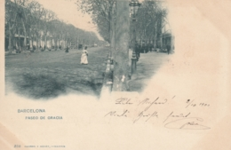 AK - Barcelona - Paseo De Gracia - 1900 - Barcelona
