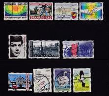 DENMARK, 1986, Used Stamp(s), Commomeratives, MI 855=875, #10174, 10 Values - Denmark