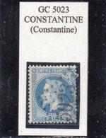 Algérie - N° 29A Obl GC 5023 Constantine - 1863-1870 Napoléon III. Laure