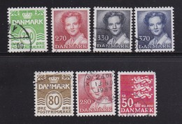 DENMARK, 1984, Used Stamp(s),   Definitives, MI 792=827, #10165, 7 Values - Denmark