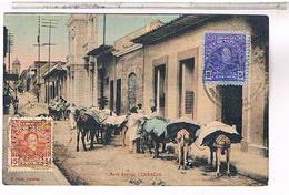 VENEZUELA   CPA  CARACAS BANK  AVENUE  1930 US182 - Venezuela