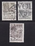 DENMARK, 1978, Used Stamp(s), Catching Fish,  MI 668=671, #10143, 5 Values Only - Denemarken