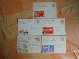 Lot De 5 Entiers Postaux Publibels (C7) - Stamped Stationery