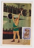 CARTE MAXIMUM CM Card USSR RUSSIA Sport Olympic Games Barbell Athletic - Cartes Maximum