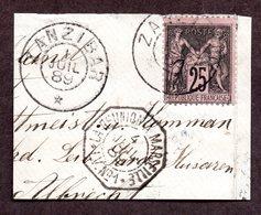 N°97 De France Oblitéré De ZANZIBAR TB Cote 55 Euros !!!RARE - Zanzibar (1894-1904)