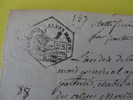 An 10, 13 Prairial (Alpes-Maritimes) Timbre De 25c époque Révolutionnaire Commune De Guillaumes (noté 147) - Cachets Généralité