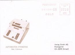 31528. Carta OSLO (Noruega) Norge 1981. Automaten Frimerke - Noruega