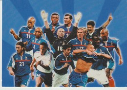 C.P. - PHOTO - EQUIPE DE FRANCE - F. F. F. - FÉVRIER 2002 - TOUS SUPPORTERS - FOOTBALL - TEQUILA - TOTAL - ELF ANTAR FRA - Football