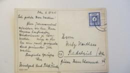 OPD: Fern-Karte 6 Pf Ost Sachsen Gez. Blauviolett EF OSt. Dresden Vom 30.12.45 Nach Radebeul -Glückwunschkarte Knr: 58 B - Zone Soviétique