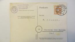 OPD: Fern-Karte 8 Pf Gez. Ost Sachsn EF OSt. Zwickau (Sachs) 2 Vom 17.12.45 Nach Oberkaina, 6 Pf Htten Gereicht! Knr: 59 - Zone Soviétique