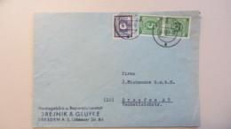 OPD: Orts-Brief 5 Pf Ziffern Gez. Im Paar Mit Zusatzfr. 6 Pf Ost-Sachsen Vom 10.5.46 Aus Dresden A28  Knr: 58 B (2), Ua. - Zone Soviétique