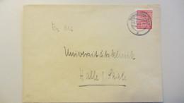 OPD: Fern-Brief Mit 12 Pf Wappen Provinz Sachsen, Geschn.. EF Aus Sangerhausen Vom 26.10.45 Nach Halle Knr: 71 - Zone Soviétique