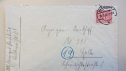 OPD: Fern-Brief Mit 12 Pf Wappen Provinz Sachsen, Gez.. EF OSt. Merseburg 26.2.46 Nach Halle Knr: 79 Y - Zone Soviétique