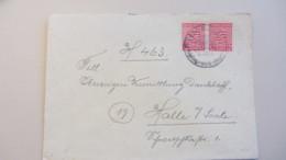 OPD: Fern-Brief Mit 12 Pf Wappen Provinz Sachsen, Gez.. MeF OSt. Bad Kösen 12.4.46 Nach Halle -portogenau- Knr: 79 Y (2) - Zone Soviétique