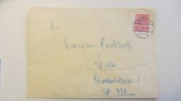 OPD: Fern-Brief Mit 12 Pf Wappen Provinz Sachsen, Gez.. EF OSt. Delitzsch 26.2.46 Nach Halle Knr: 79 Y - Zone Soviétique