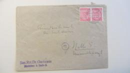 OPD: Fern-Brief Mit 12 Pf Wappen Provinz Sachsen, Gez.. MeF OSt. Nietleben 11.3.46 Nach Halle -portogenau- Knr: 79 Y (2) - Zone Soviétique