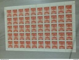 Foglio Intero Di 50 Francobolli Senza Gomma Della Repubblica Popolare Cinese Palazzo Delle Conferenze - 1949 - ... Repubblica Popolare