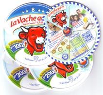 """Algérie - 3 Couvercles + 1 Intercalaire De Fromage """"La Vache Qui Rit """" -8, 16 Et 24 Portions (97 Ans D'expérience) - Fromage"""
