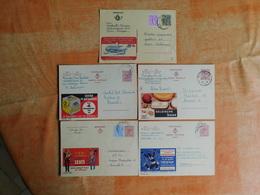 Lot De 5 Entiers Postaux Publibels (E7) - Publibels