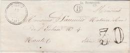 TORFOU ( 47 )  Bureau Rare - Ind. 18 : T. 22 + Taxe Tampon 30 + Boîte Rurale B (La Romagné). - Marcophilie (Lettres)