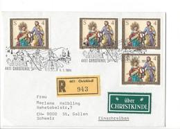21608 - Christkindl 1983  Lettre Recommandé  Pour St.Gallen 06.01.1984 + Vignette über Christkindl - Noël