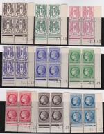 France  .   Yvert    .    670/681  Blocs De 4 ( 2 Scans )     .   **  .    Neuf  SANS  Charniere  .   /   .    MNH - France