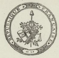 Colmar Héraldique An 9- 27.9.1800 Ministre Du Culte M.Haffner - Documentos Históricos