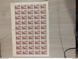Foglio Intero 50 Francobolli Nuovi Senza Gomma Repubblica Popolare Cinese Mao Tse-tung Conferenza Politica - 1949 - ... Repubblica Popolare