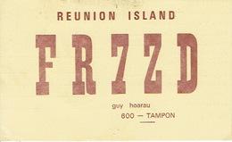 QSL CARTE RADIO AMATEUR - FR7ZD -  REUNION ISLAND  TAMPON 1967 - GUY HOARAU - Radio Amateur