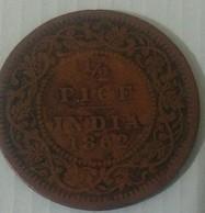 India Inde Indein 1862..1/2 Pice Circulated - India