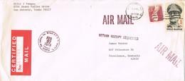31534. Carta Aerea Certificada SAN ANTONIO (texas) 1973. Stamp McArthur. Retourn - Estados Unidos