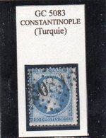 BFE - N° 22 (ld) Obl GC 5083 Constantinople (Turquie) - 1862 Napoléon III.